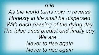 Dark Angel - Never To Rise Again Lyrics