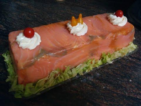 Pastel frío de salmón
