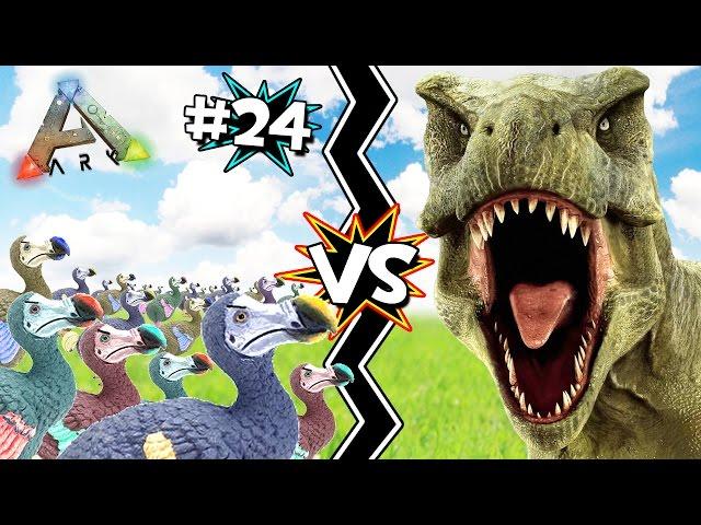 Ejercito-de-dodos-vs-t-rex