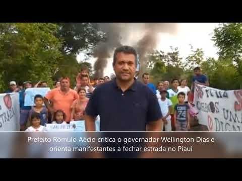 Prefeito Rômulo articula manifestação contra Wellington Dias