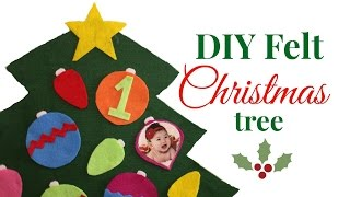 Easy DIY Felt Christmas Tree For Toddlers!