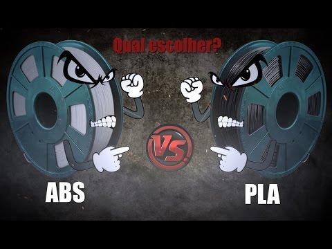 Qual filamento escolher: ABS ou PLA?