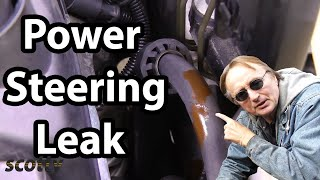 How to Find Power Steering Leak in Your Car (Hose Replacement)