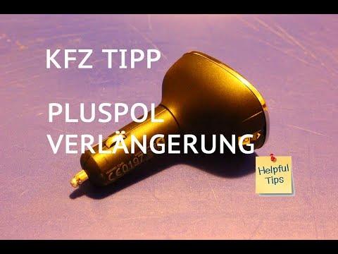 Pluspol Verlängerung: 12V KFZ Adapter für Zigarettenanzünder / Steckdose  ohne Strom