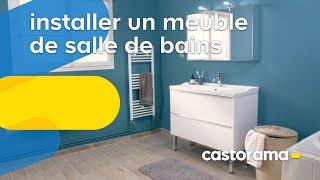 Comment poser ou remplacer un meuble vasque dans une salle de bains ?