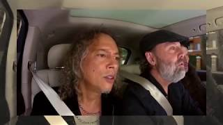 Metallica Singing Rihanna's Diamonds In Carpool Karaoke!