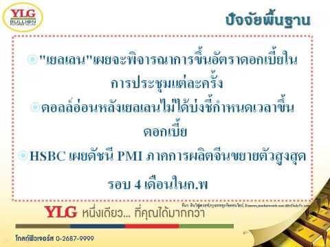 YLG บทวิเคราะห์ราคาทองคำประจำวัน 25-02-15