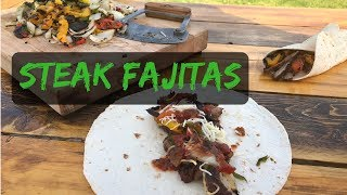 Grilled Steak Fajitas - Mexican Style With Grilled Veggies