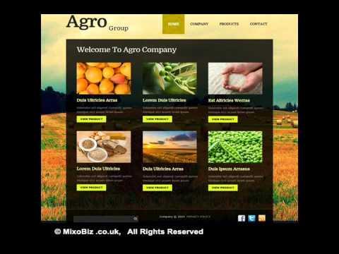 Nature related web design samples ( MixoBiz )