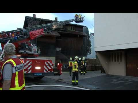 Brand eines Mehrfamilienhauses in Unteraegeri