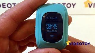 Smart Baby Watch Детские умные часы-телефон Q50 темно синие DARK BLUE Качество от компании Телемагазин - видео