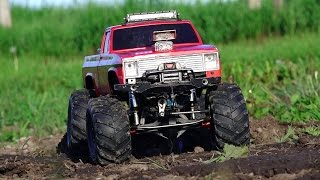 RC ADVENTURES - Modern Backyard MUD Bog - Three 4x4 Scale Trail Trucks In A Mud Bath - 1/10 Scale