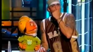 Eminem Funny Moments (beating a puppet)