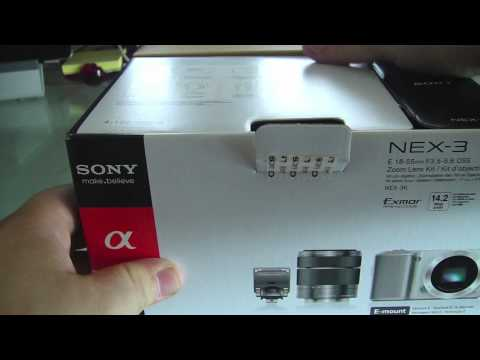Sony NEX 3 Digital Camera Unboxing