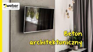 Beton architektoniczny na ścianie TV. Zobacz jak krok po kroku zrobić imitację betonu w salonie.