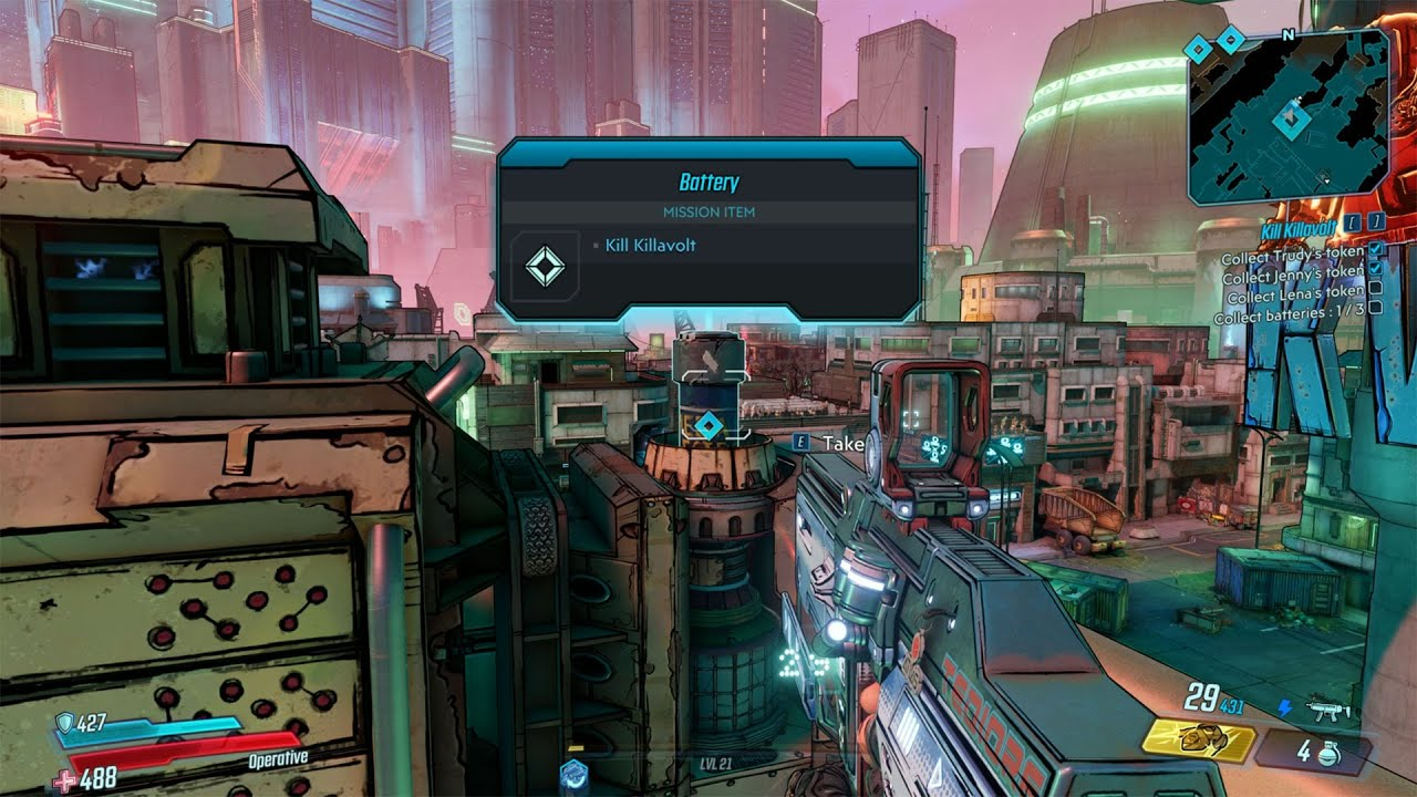 Video Downtown Square Battery (second) for Kill Killavolt Mission