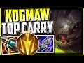 KOG'MAW 1v5 CARRY BUILD! | Kog'Maw Gameplay Guide Season 11 - LEAGUE OF LEGENDS