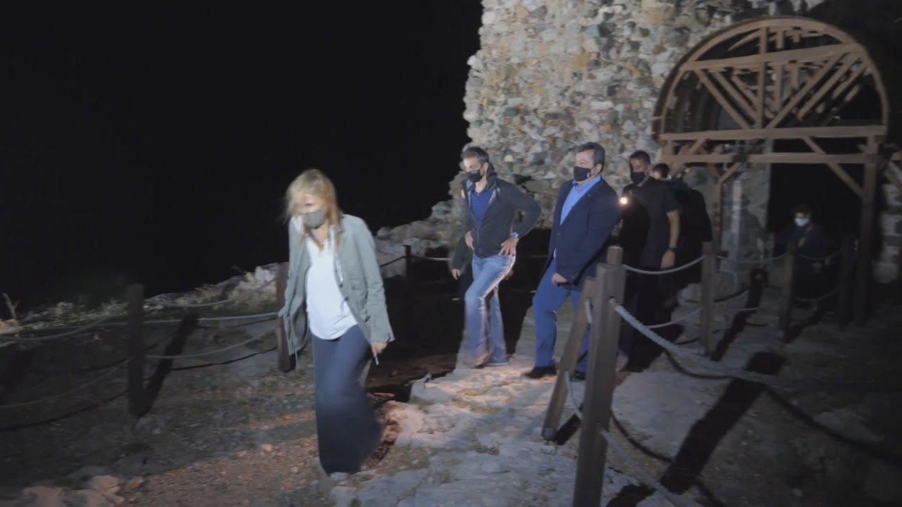 Το Κάστρο της Χώρας της Σαμοθράκης επισκέφθηκε ο Πρωθυπουργός Κυριάκος Μητσοτάκης