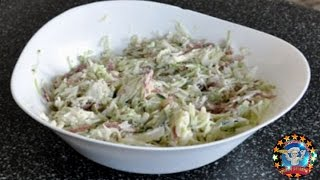 Смотреть онлайн Готовим салатик с огурцом и колбаской