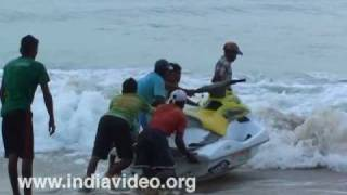 Water scooter ride in Goa beaches