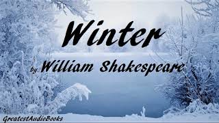 WINTER by William Shakespeare - FULL Poetry AudioBook | GreatestAudioBooks