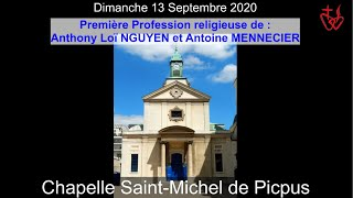 2020-09-13 – Profession religieuse d'Anthony et d'Antoine