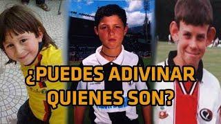 Estrellas del fútbol cuando eran niños ¿Puedes adivinar quienes son? | Futbolistas cuando eran niños