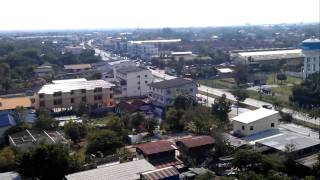 preview picture of video 'Khon kaen city from top of a temple!'