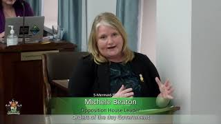 Response to the Speech from the Throne (MLA Michele Beaton)