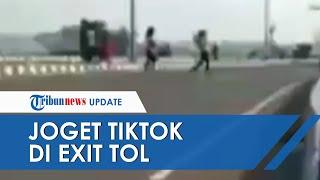 Viral Video Emak-emak Joget Tiktok di Exit Tol Setono, Polisi Sudah Kantongi Identitasnya