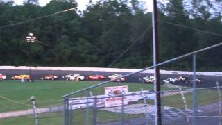 Mahoning 7/2 - Modified 100 Early Race Restart And Crash
