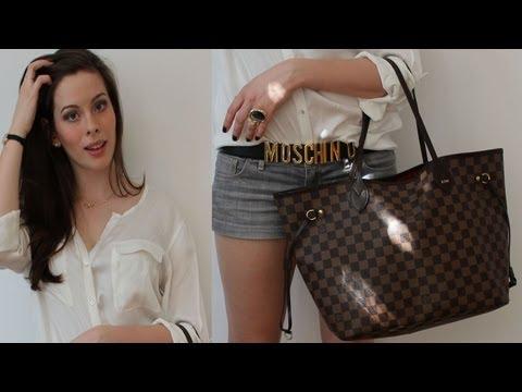 Sommer OOTD: Weiße Seiden-Bluse + Moschino Belt + LV Neverfull