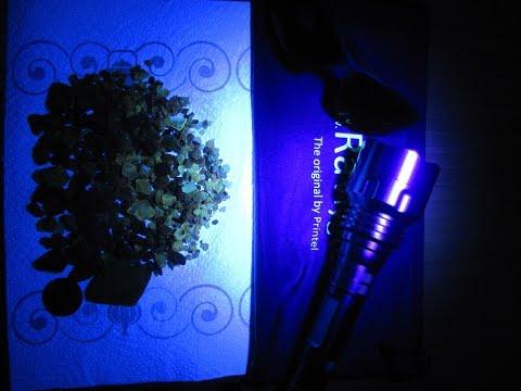 Bernsteinsuche mit der UV Lampe Bernstein Suche Amber Rav Ravlygte ( 2018 ) Ostsee