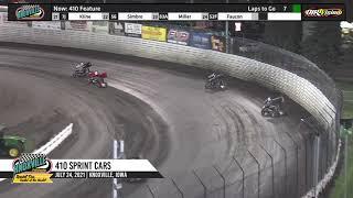 Knoxville Raceway 410 Highlights - June 24, 2021