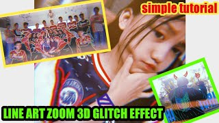 Cara membuat line art 3D zoom glitch effect •  • simple tutorial