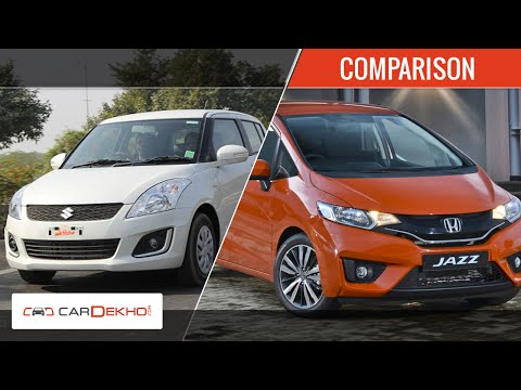 Maruti Suzuki Swift vs 2015 Honda Jazz | Comparison Video | CarDekho.com