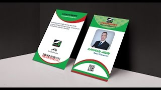 How To Make Professional Business ID Card Mock Up In Photoshop