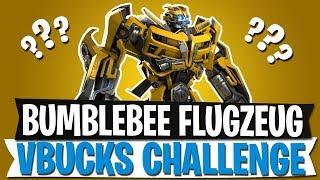 FLUGZEUG IN FORTNITE? | V-BUCKS CHALLENGE & BUMBLEBEE TRANSFORMERS | Fortnite Battle Royale