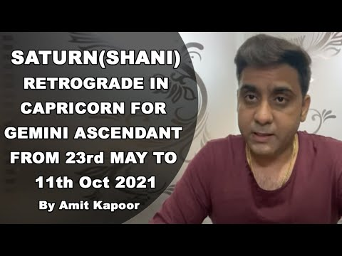 SATURN(SHANI) RETROGRADE IN CAPRICORN ♑️ FOR GEMINI ♊️ ASCENDANT FROM 23rd MAY TO 11th Oct 2021