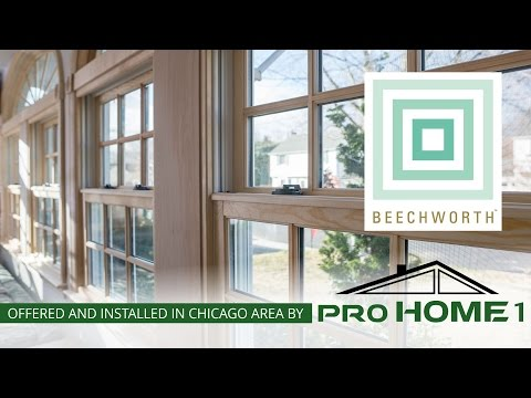 Beechwood Windows are a smart choice regardless whether you have any of James Hardie products. Beechwood's low maintenance fiberglass won't warp, fade or crack even with the temperature extremes we experience here in Illinois.  Beechwood windows hold their shape extremely well and are stronger than vinyl windows.