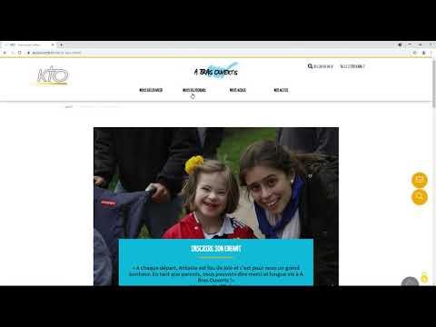 Le site web d'« A bras ouverts »