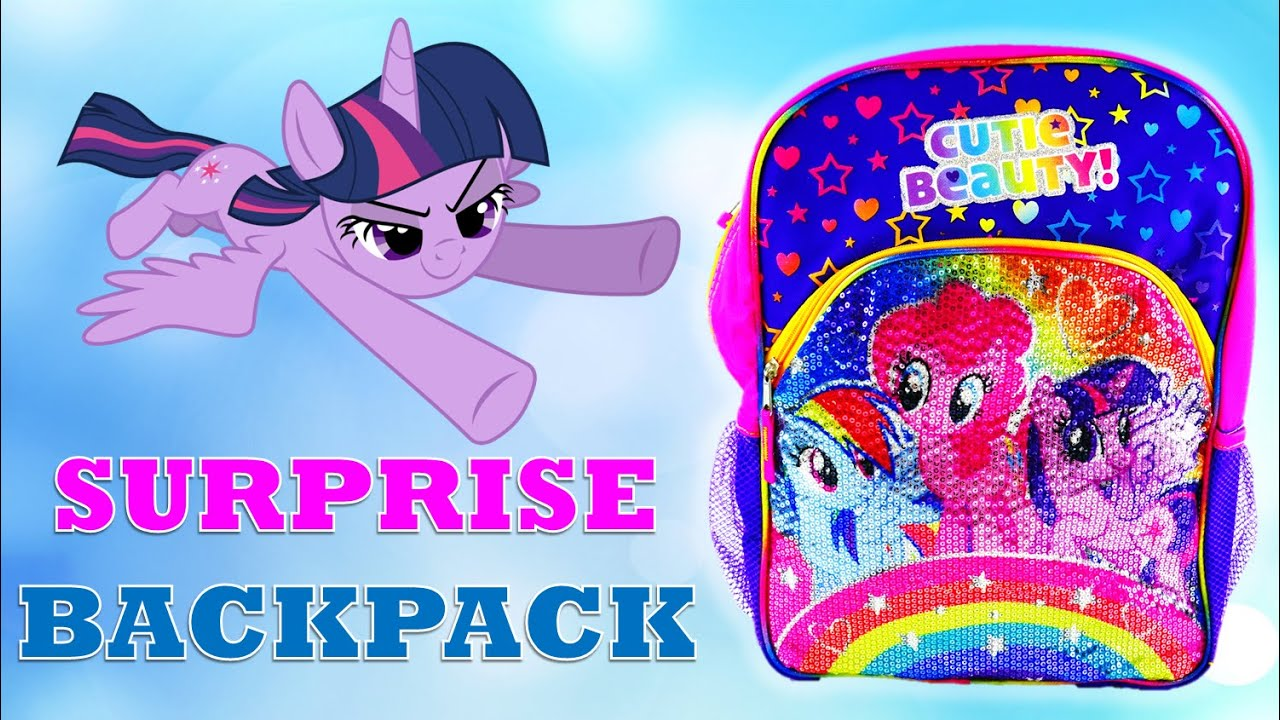 GIANT Sparkling My Little Pony Surprise Backpack With Lots of MLP Toys and Surprises
