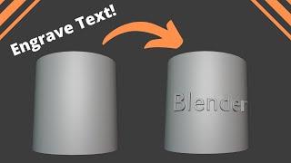 Emboss Text In Blender   Hard-Surface Tutorial