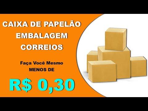 Embalagem para postar produtos no correios