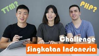 Challenge singkatan kata Indonesia, Bule Amerika VS Orang Korea