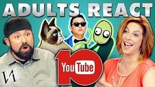 Реакция взрослых людей на 10-е Ютуба / Иностранцы смотрят десятилетие YouTube [ИндивИдуалист]
