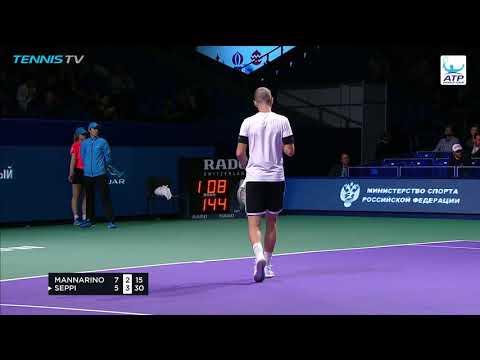 Hot Shot: Mannarino Puts Away Bang-Bang Volley In Moscow 2018 (видео)