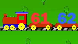 The Number Train - Learn to count from 61 to 70