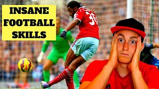AMERICAN REACTS TO FOOTBALL SKILLS (crazy…)