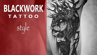 #BLACKWORK tattoo style